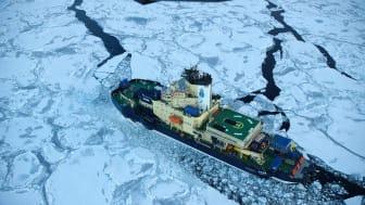 Isbrytaren Oden är den största av Sveriges fem statsisbrytare. Foto: Sjöfartsverket