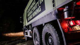 Det blir alltmer av förarlösa och självkörande fordon nere i gruvor, både för transport av malm och gråberg. Bilden visar test av en förarlös Volvo. Foto: Tomas Westermark