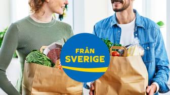Med en tydlig uppskyltning av den frivilliga ursprungsmärkningen Från Sverige i butikerna blir det enkelt för konsumenterna att hitta råvaror, livsmedel och växter som är odlade, födda och uppfödda, förädlade, förpackade och kontrollerade i Sverige.