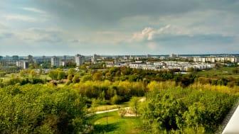 Berlin: Verdens hager med Mahrzahn Skyline