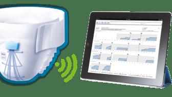 Det smarta inkontinensskyddet är utrustat med sensorer som under 72 timmar samlar in information om när det sker läckage.