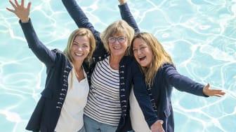Daftö Resorts ägare Lena, Mette och Mia Kempe. Fotograf: Niklas Maupoix.