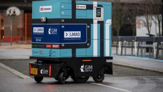 Självkörande leveransrobot testas i Helsingfors