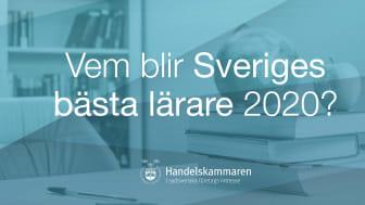 Nu inleds sökandet efter Sveriges bästa lärare 2020!