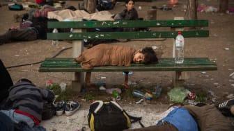Barn på flykt på Balkanrutten. Foto: Olmo Calvo/Médicos del Mundo