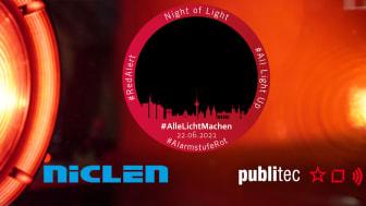 NicLen und publitec wieder bei der NightOfLight dabei