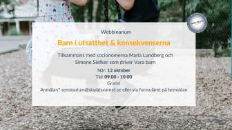 Webbinarium: Barn i utsatthet & konsekvenserna