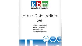 Handdesinfektion gel, 500 ml, KBM Professional