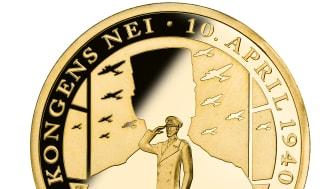 """Verdens første; Medaljen Kongens nei er verdens første minnemedalje i rettferdig """"Fairmined"""" gull"""