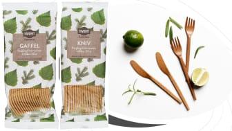 Bergendahls Food lanserar bestick av återvunnen träfiber – lämnar 0% CO2-avtryck