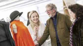 Catwalk king visits Northumbria's fashion studio