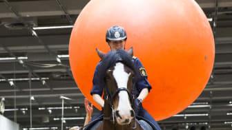 Polisrytteriet hade uppvisning på EuroHorse
