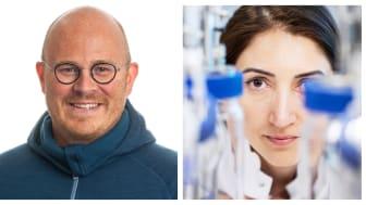 Emil Byström, CEO of Spinchem, and Selin Kara at Aarhus universitet. Photo: Press och Ida Jensen