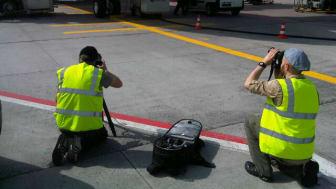 The Cavotec film crew at Frankfurt Airport #Cavotecfilm