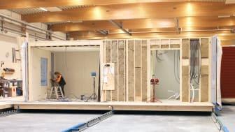 Anebyhusgruppens volymhustillverkning i Klöverfors