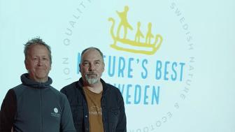 Joakim Hermanson, generalsekreterare Naturturismföretagen och Dan Jonasson, sakkunnig hållbar turism som gjort revideringen av Nature's Best nya kriterier.