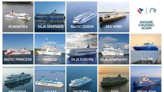 För första gången på fyra månader - idag är alla Tallink Grupps fartyg i trafik igen