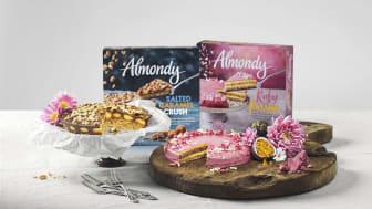 Almondy lanserar dubbla tårtnyheter  - de hetaste smaktrenderna nu i frysdisken
