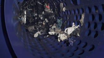 Trumsikt används för att sortera ut avfallet i olika storlekar. Foto: Stockholm Exergi