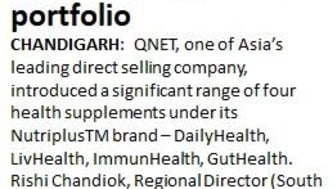 QNET India steps up its health supplements portfolio in Covid-19 situation