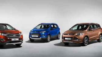 Ford forventer fordobling i salg af All Wheel Drive og en tredobling i salget af SUVs i Europa