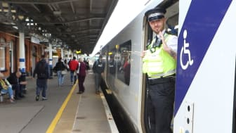 Govia Thameslink Railway Rail Enforcement Officer Ben O'Day found work through the Prince's Trust 'Get Into Railways' programme MORE HIGH RESOLUTION PICTURES CAN BE DOWNLOADED BELOW THIS PRESS RELEASE
