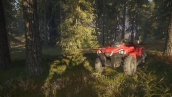ATVs are the fastest - and most fun - mode of transportation to get around the vast hunting reserves.