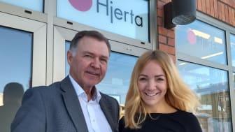 Göran Fjällborg och Marlen Wolf på Hjerta Kiruna