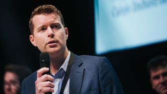 Johannes Holmberg, vd för AI-bolaget Calejo Industrial Intelligence