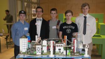 Pershagenskolan med sitt bidrag Riggotown, Future City 2014