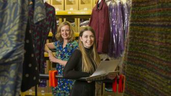 Northumbria graduate intern Megan Hincks (front) with Lily Ella owner Zoe Glover