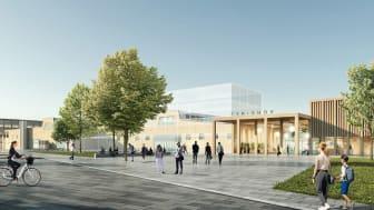 Det vinnande bidraget i arkitekttävlingen - Norra Stadsparken. Illustration: White Arkitekter.