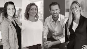 Lynn Treard, Katarina Bajric, Niklas Bergsten och Jannica Johansson - nya partners på MOHV.