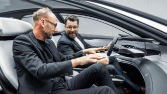 Audi grandsphere concept, Marc Lichte (Head of Design) og Oliver Hoffmann (Head of Technical Development)