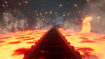 Ride through winding mineshafts with sparkling diamonds, floods of lava and dragons protecting their treasures.