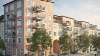Säljstart för Riksbyggens Brf Parkliv med 49 lägenheter i Täby Park