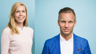 På bilden: Michaela Hollis (KD), styrelseordförande i Micasa Fastigheter och Stockholms äldreborgarråd Erik Slottner (KD).