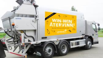 Ny sopbil med fyra fack för avfallet