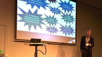 Joakim Hedgård jobbar med nya tekniker, att bevaka nya trender och utbildning på Swerea. På Elmia Svets och Fogningsteknik höll han i ett trendseminarium.