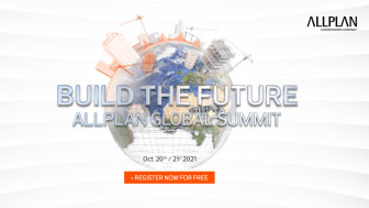 """ALLPLAN will present AEC industry trends and new version Allplan 2022 at its first virtual conference """"Build the future: ALLPLAN Global Summit"""" from October 20 to 21, 2021."""