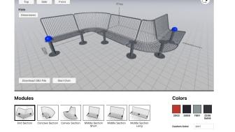 Korg planner, digitalt planeringsverktyg för utbyggnad av Korg möbelsystem, design Thomas Bernstrand.