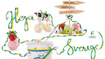 Heja Sverige och svensk glass från Slöinge
