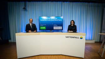 Dr. Martin Brudermüller, vd Vattenfall, och Anna Borg, vd BASF.