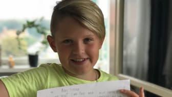 Adam och Bun har haft brevkontakt sedan de båda var fem år!