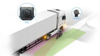 DAF Trucks inför nu DAF City Turn Assist som ett fabriksalternativ på 4x2- och 6x2-dragbilar för att öka säkerheten vid distributionsarbete i stadsmiljö.