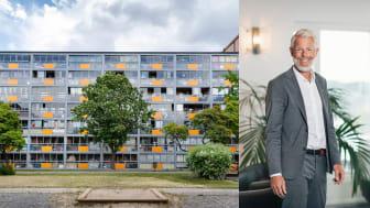 Anders Joachimsson, affärsområdeschef Fastigheter på HSB Stockholm. HSB Stockholms fastigheter i Rinkeby (bilden) får fiber – där finns 617 lägenheter.