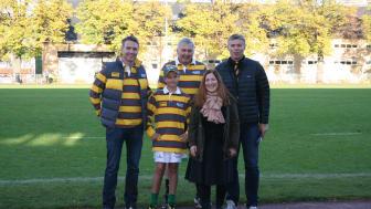 DHL ger ett barn från Sverige möjligheten att få leverera den officiella matchbollen under Rugby World Cup 2015