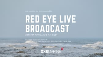 Sign up for the Red Eye Investor Forum live broadcast, April 29th at 2.20 P.M CEST.