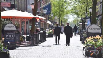 Gågata i Kristianstads innerstad.