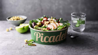 Picadelis ikoniska gröna skål blir nu ännu grönare